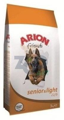 Arion Friends Senior Light 22/9 - 15kg + 5x Kabanos