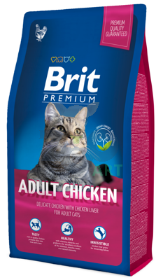 BRIT Premium Adult Cat Chicken 8kg
