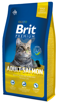 BRIT Premium Adult Cat Salmon 8kg