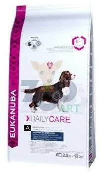 EUKANUBA Daily Care Overweight, Sterilized Dogs 12,5kg