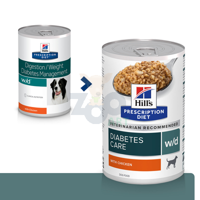HILL'S PD Prescription Diet Canine w/d 370g - puszka