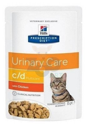 HILL'S PD Prescription Diet Feline c/d Multicare Kurczak  12 x 85g saszetka
