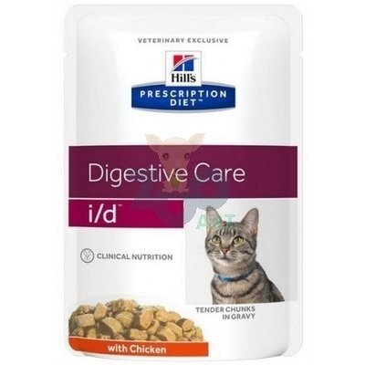 HILL'S PD Prescription Diet Feline i/d 12 x 85g z kurczakiem - saszetka