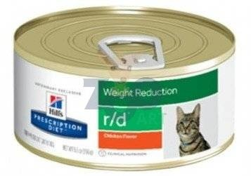 HILL'S PD Prescription Diet Feline r/d  24 x 156g - puszka