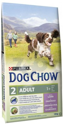 PURINA Dog Chow Adult Lamb 14kg + 5x Kabanos