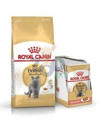 ROYAL CANIN British Shorthair 2kg + 12x British Shorthair Adult saszetka 85g (Sos)