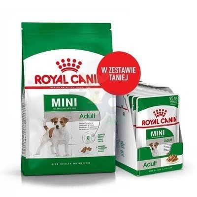 ROYAL CANIN Mini Adult 4kg + 12x85g saszetka