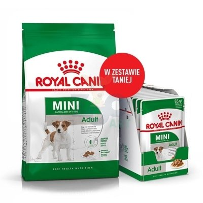 ROYAL CANIN Mini Adult 8kg + 12x85g saszetka