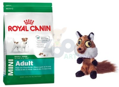 ROYAL CANIN Mini Adult 8kg +  Barry King lis pluszowy
