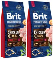 BRIT Premium By Nature Adult L 2x15kg