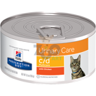 HILL'S PD Prescription Diet Feline c/d Multicare Kurczak 12 x 156g - puszka