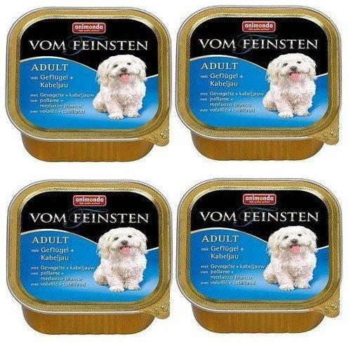ANIMONDA Dog Vom Feinsten Adult, smak: z drobiem + dorsz atlantycki 22x150g
