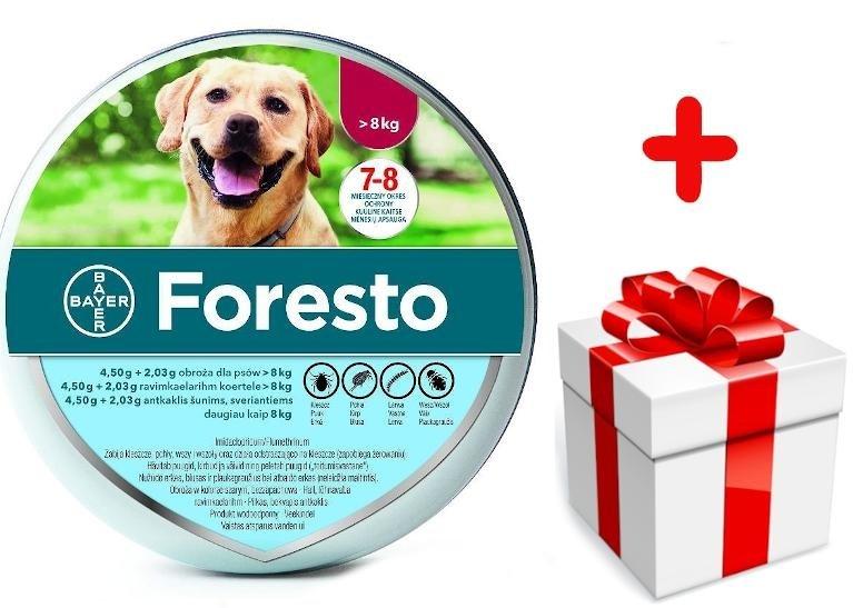 Bayer Foresto Obroza Przeciw Kleszczom I Pchlom Dla Psow Powyzej 8kg Niespodzianka Dla Psa Gratis Sklep Zoologiczny Zooart