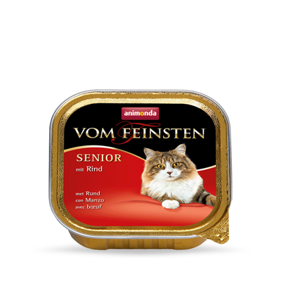 ANIMONDA Vom Feinsten Senior Cat smak: z wołowiną 100g