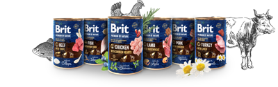 Brit Premium by Nature mix smaków 24x400g