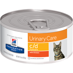 HILL'S PD Prescription Diet Feline c/d Multicare Kurczak 156g - puszka