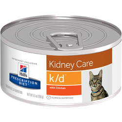HILL'S PD Prescription Diet Feline k/d - puszka (pasztet) 12 x 156g kurczak