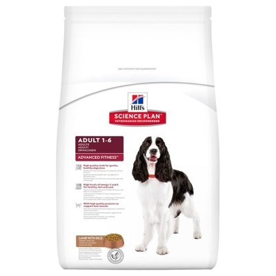 HILL'S SP Science Plan Canine Adult Advanced Fitness Jagnięcina i Ryż 12kg