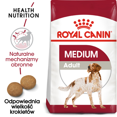 ROYAL CANIN Medium Adult 15kg +5x Kabanosy