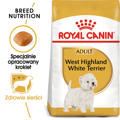 ROYAL CANIN West Highland White Terrier Adult 500g karma sucha dla psów dorosłych rasy west highland white terrier